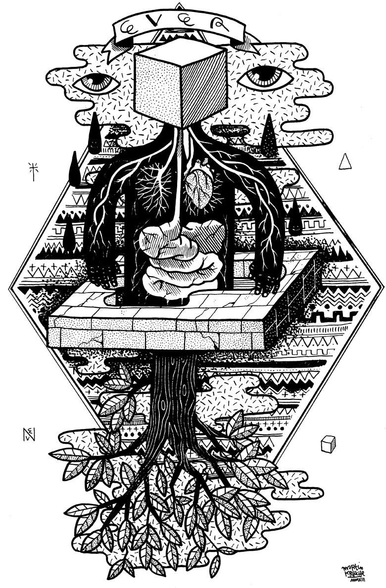 Martin Krusche - Illustration - »Anatomy Tree«