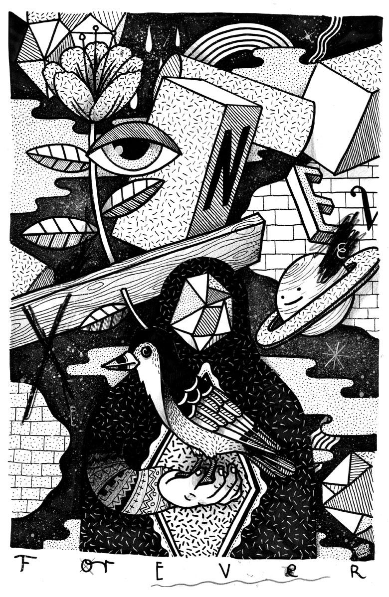 Martin Krusche - Illustration- »Black and White World I«