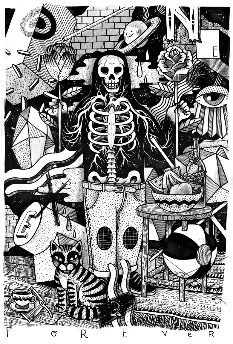 Martin Krusche - Illustration- »Black and White World II«