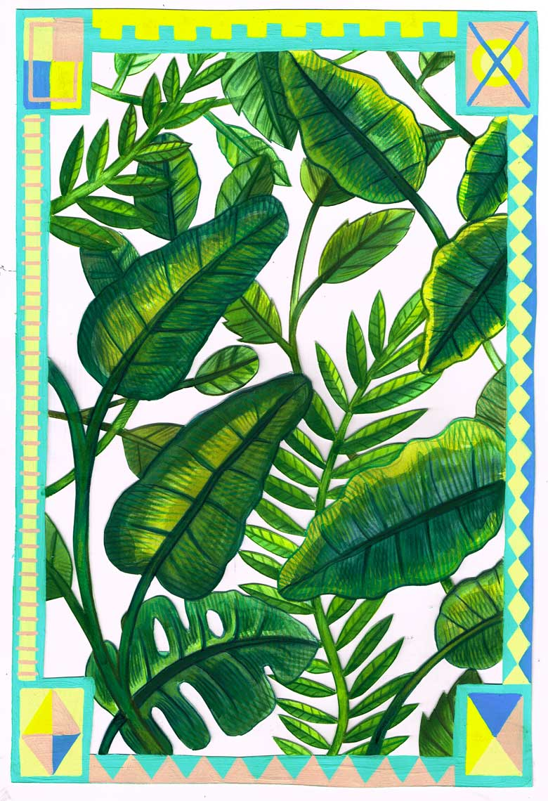 »Blätter#1« Illustration - Martin Krusche