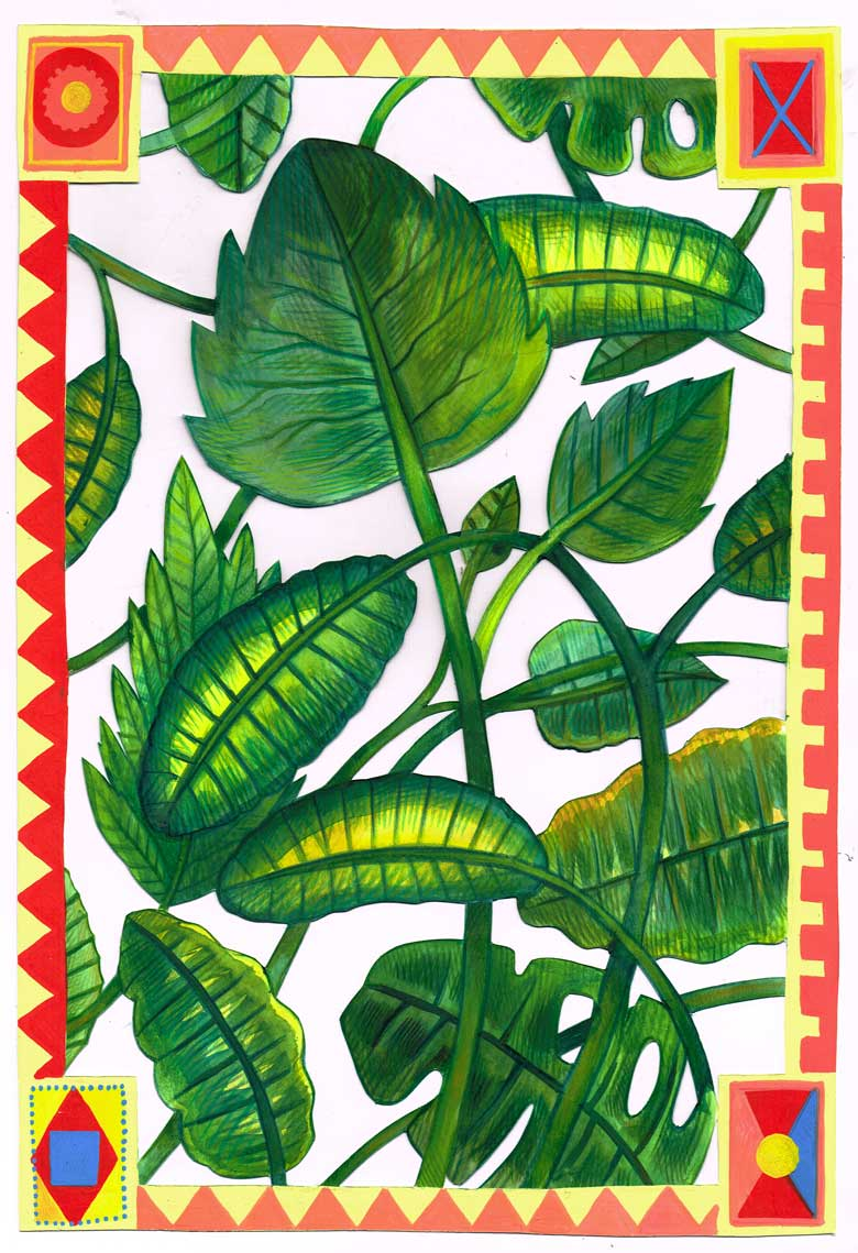 »Blätter#3« Illustration - Martin Krusche