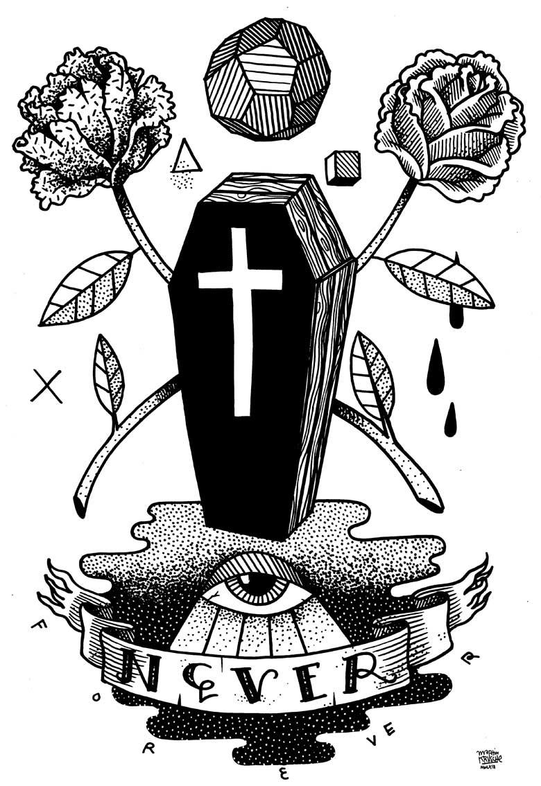Martin Krusche - Illustration - »Coffin«