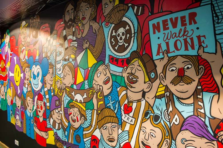 »Mural for Congstar @ Millerntor« Mural, Graffiti, Wall Painting- Martin Krusche