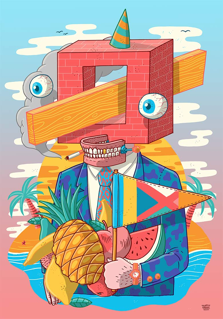 Martin Krusche - Illustration - »Cubeman«