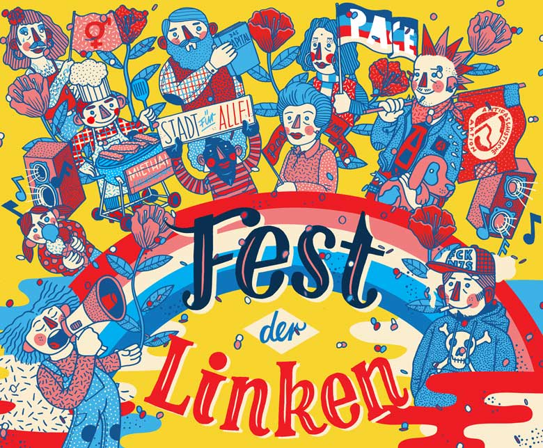 Illustration »Festival der Linken 2019« - Martin Krusche