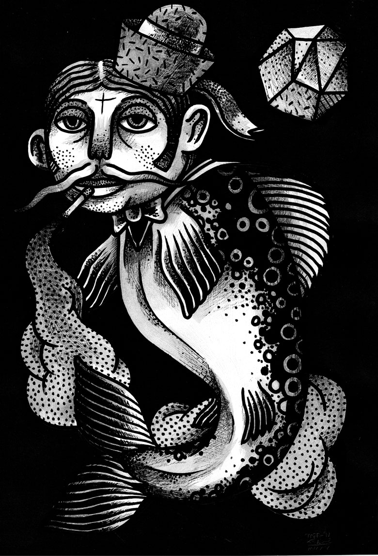 Martin Krusche - Illustration- »Tryptichon Fishes #1: Trout«