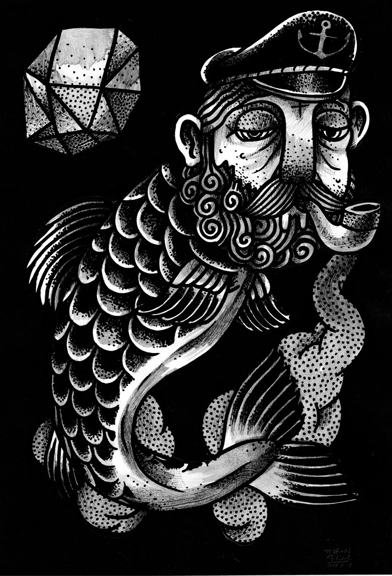 Martin Krusche - Illustration- »Tryptichon Fishes #3: Carp«