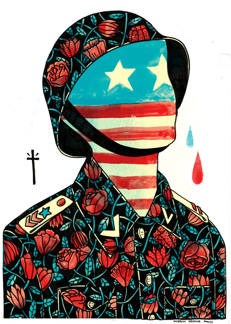 Martin Krusche - Illustration - »Flower Soldier«