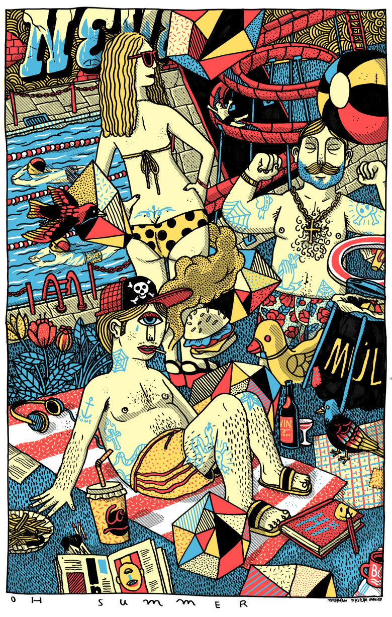 Martin Krusche - Illustration- »Freibad«