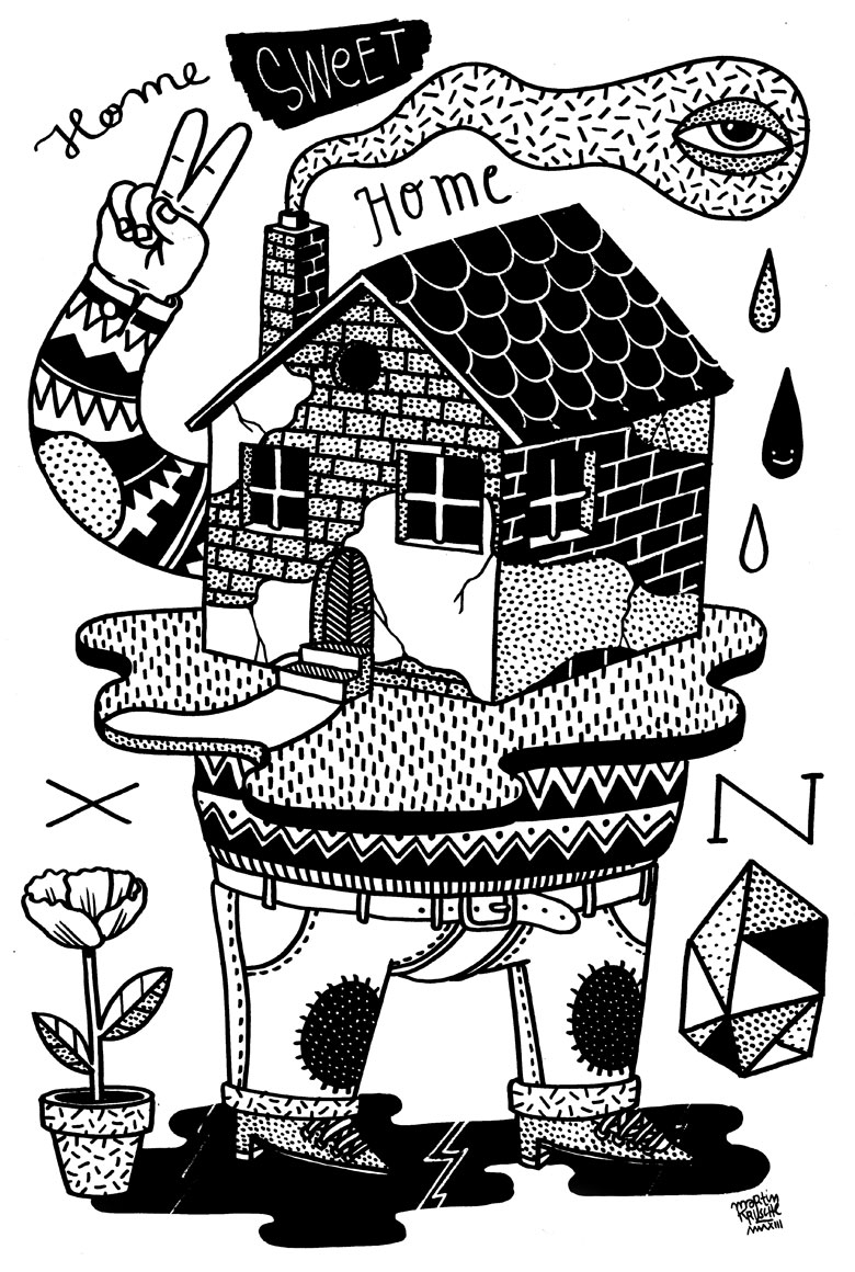 Martin Krusche - Illustration - »Home Sweet Home«