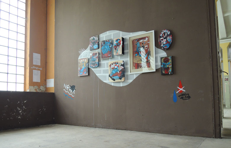 Martin Krusche - Wall art and exhibition- »In Your Face«