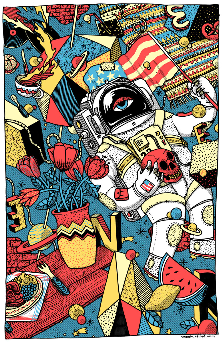Martin Krusche - Illustration- »Kosmonaut«