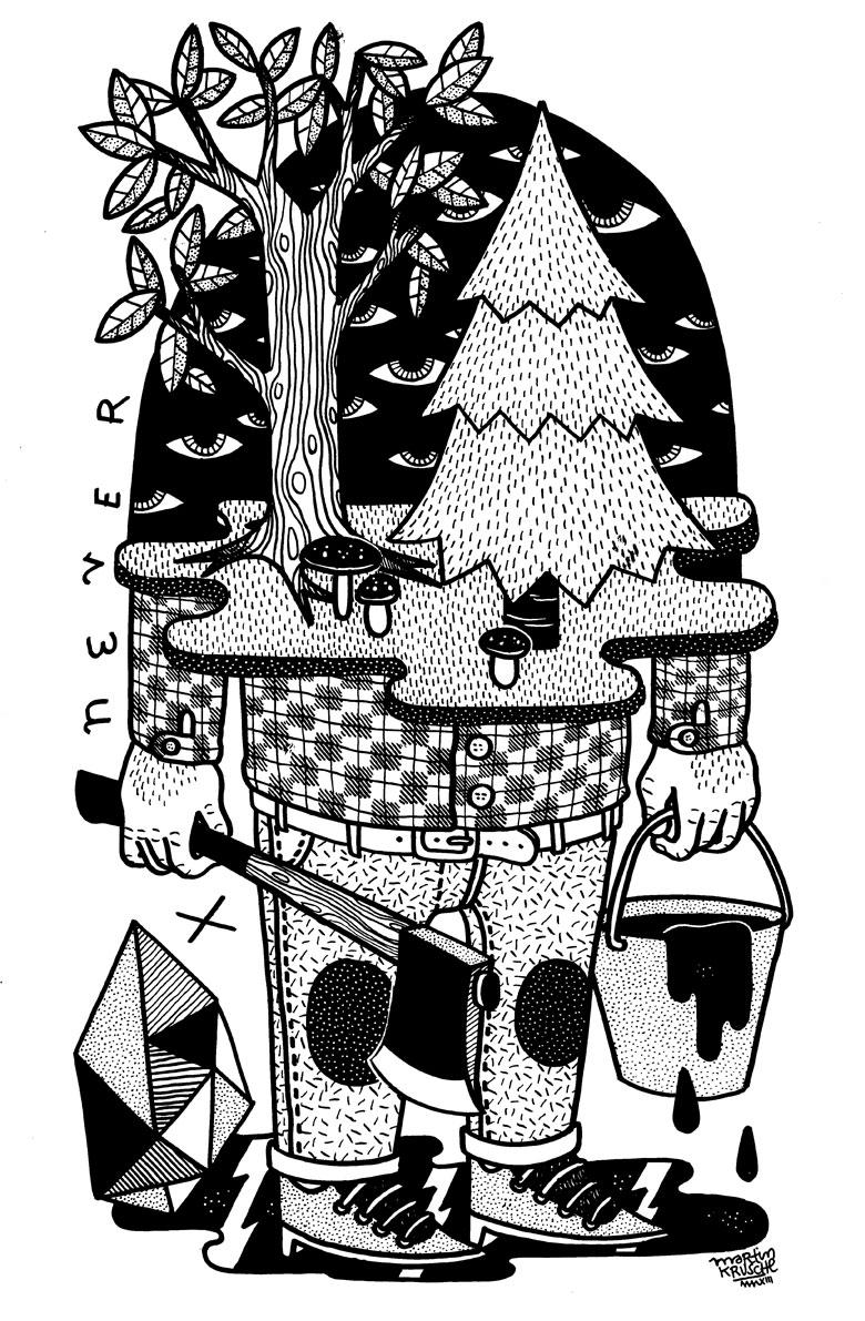 Martin Krusche - Illustration - »MultiEye Wood«
