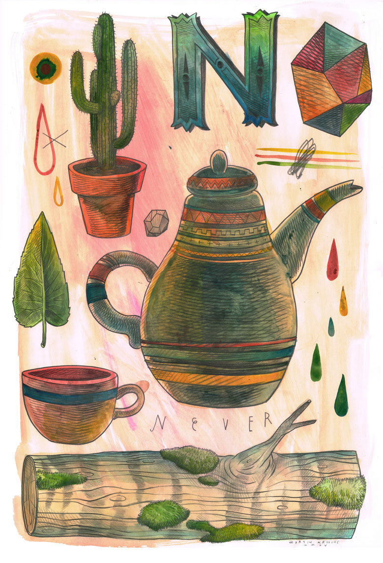 Martin Krusche - Illustration- Objects #6 »Tea«