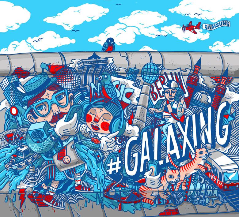 Martin Krusche - Illustration- »Samsung Backwall«