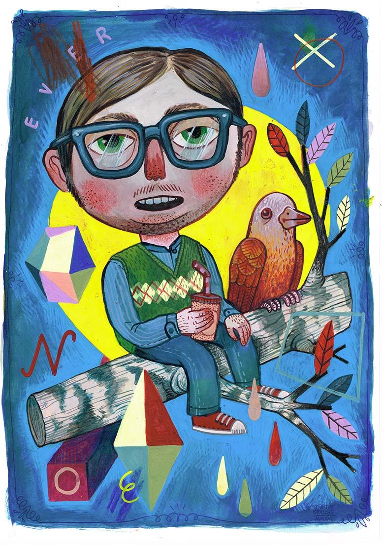 »Sitting on a tree« Illustration - Martin Krusche