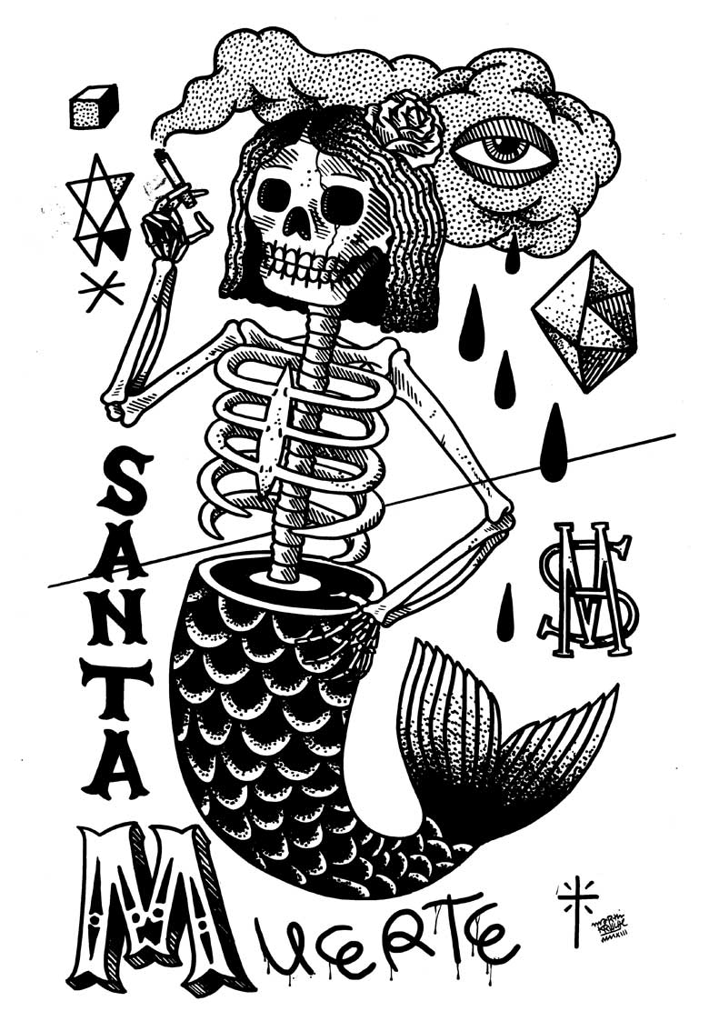 Martin Krusche - Illustration - »SkullMermaid«
