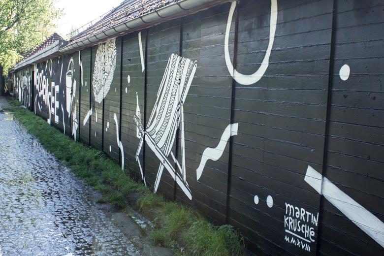 Strandbad Weissensee Mural - Martin Krusche