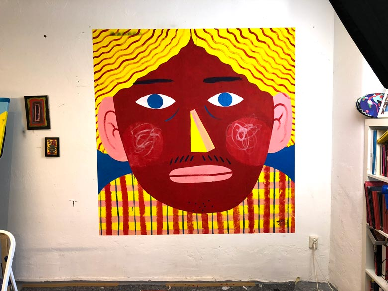 Illustration, Mural, Wallpainting »Studiowall Nr.1« - Martin Krusche