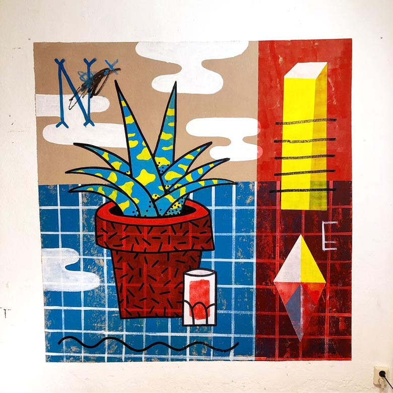Illustration, Mural, Wallpainting »Studiowall Nr.2« - Martin Krusche