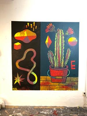 Illustration, Mural, Wallpainting »Studiowall Nr.4« - Martin Krusche