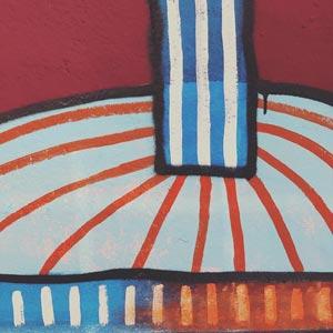 Illustration, Mural, Wallpainting »Studiowall Nr.6« - Martin Krusche