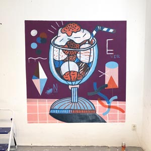 Illustration, Mural, Wallpainting »Studiowall Nr.6« - Martin Krusche