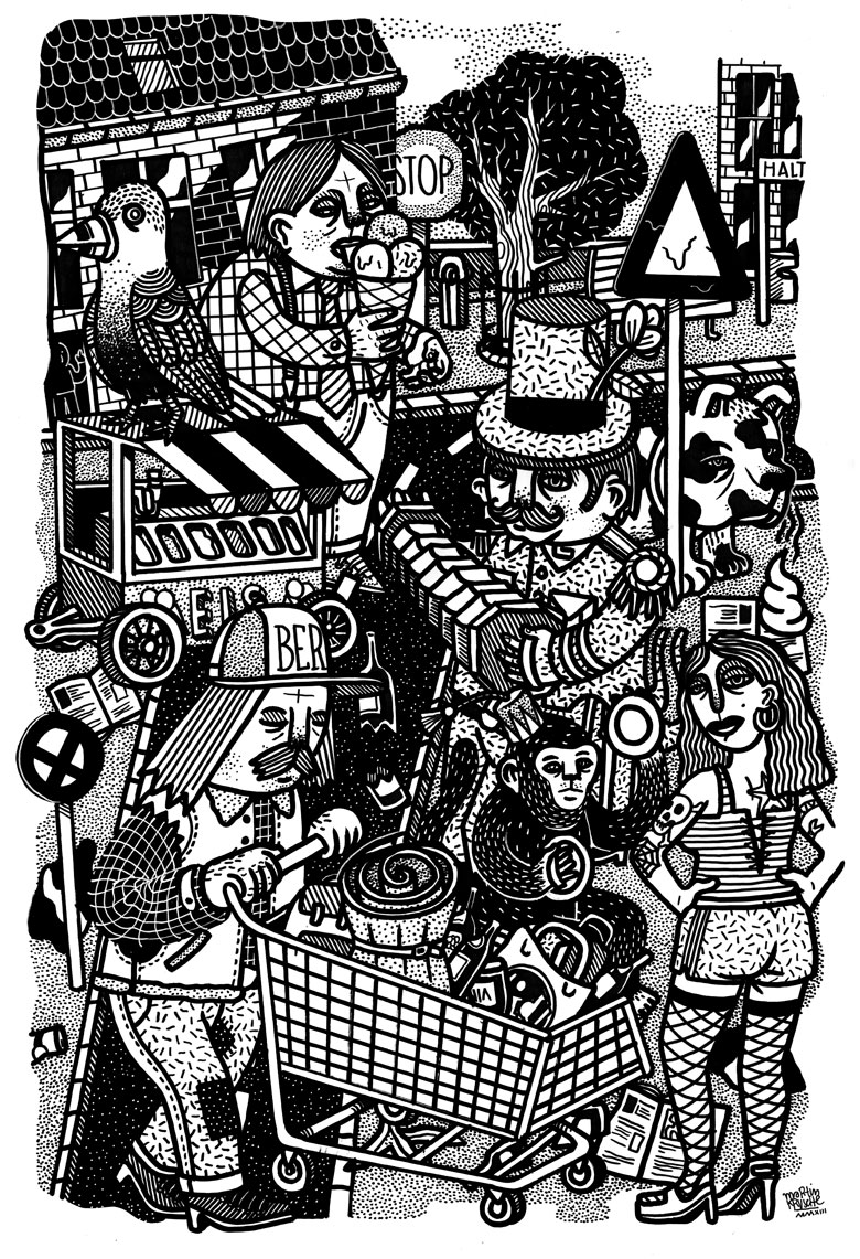 Martin Krusche - Illustration- »The Streets #2«