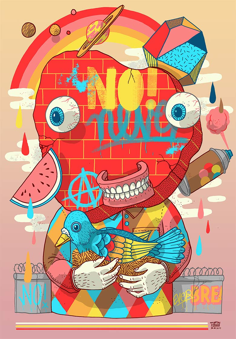 Martin Krusche - Illustration - »Wallface«