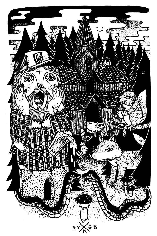 Martin Krusche - Illustration- »Skrik«