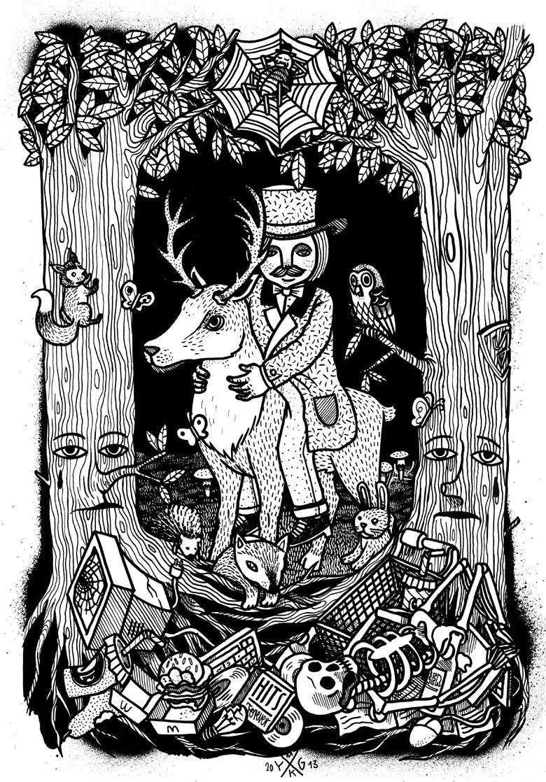 Martin Krusche - Illustration- »Skog«