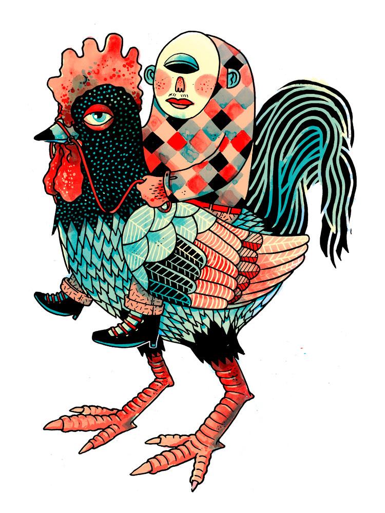 Martin Krusche - Illustration - »Cockrider«