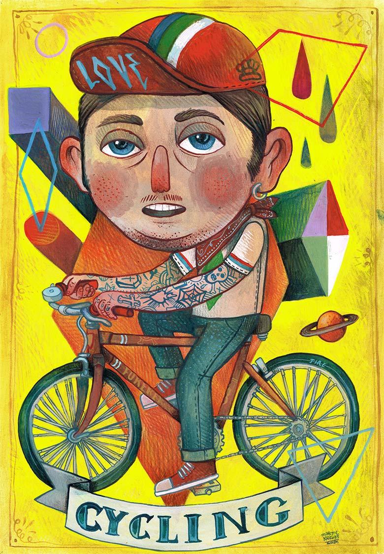 »Cyclist« Illustration - Martin Krusche