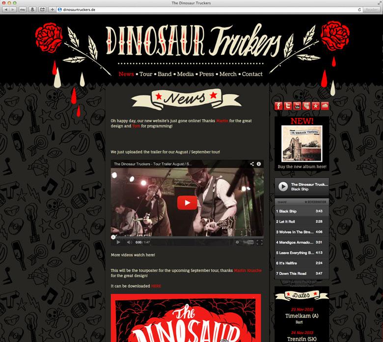 Martin Krusche - Illustration/Webdesign- »Dinosaur Truckers«