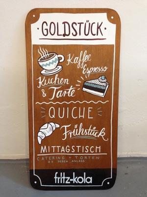 »Goldstück« Lettering- Martin Krusche