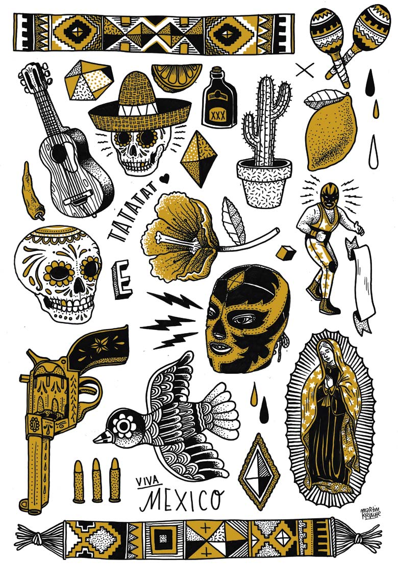 Martin Krusche - Illustration »Tatto Sticker TATATAT«