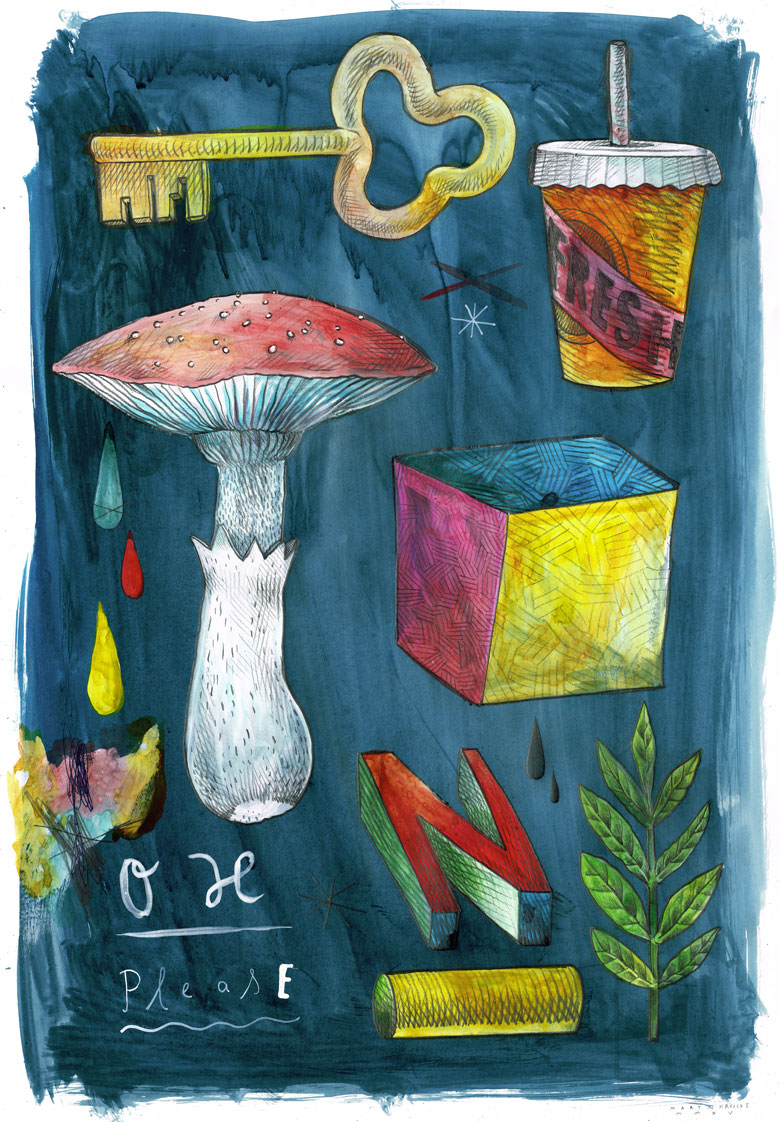 Martin Krusche - Illustration- Objects #8 »Mushroom«