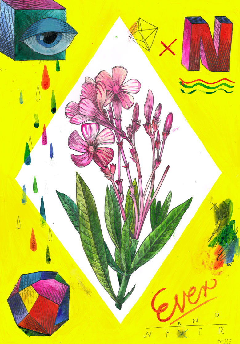 Martin Krusche - Illustration- »Rhombus Tryptichon #1: Flower«