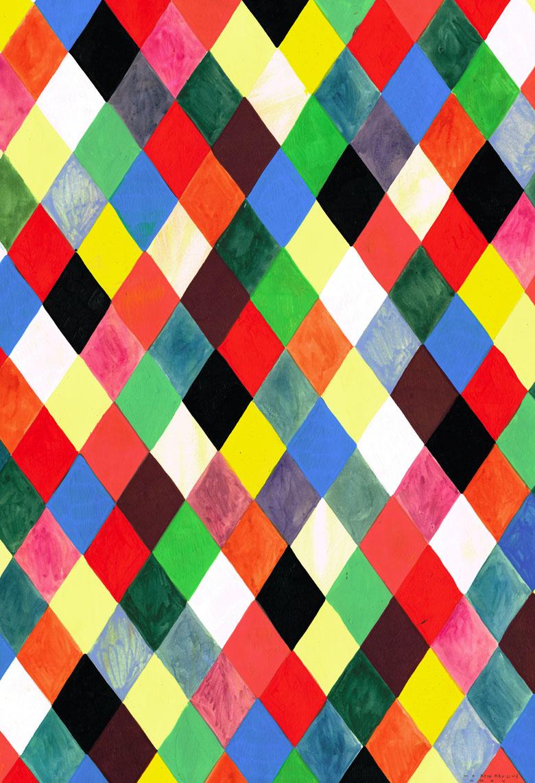 Martin Krusche - Illustration- »Rhombus Tryptichon #2: Rhombus Pattern«