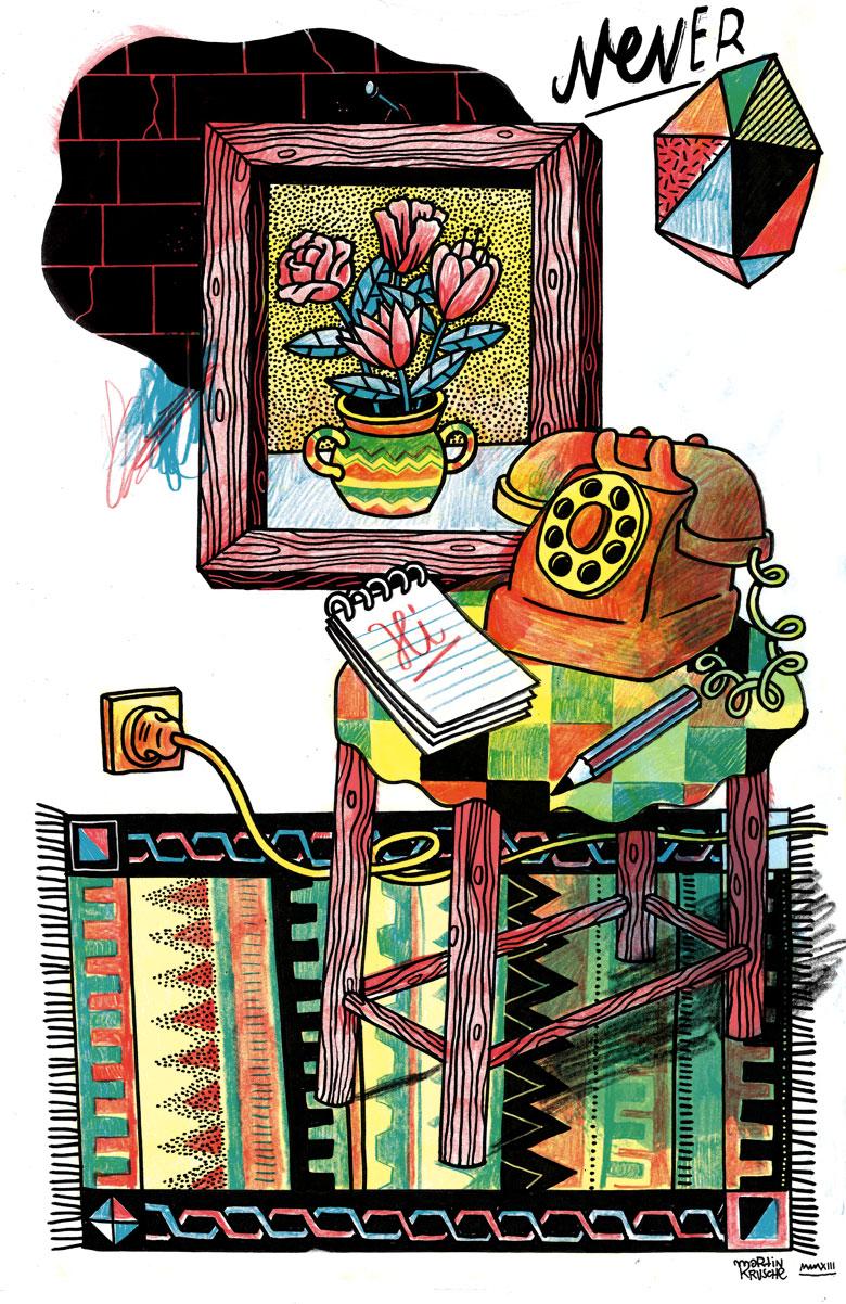 Martin Krusche - Illustration- »Telefontisch«