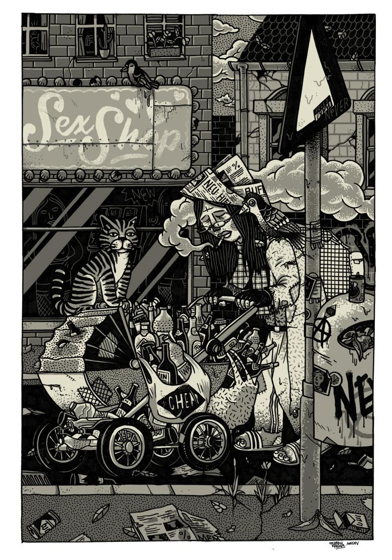 Martin Krusche - Illustration- »Kinderwagen«