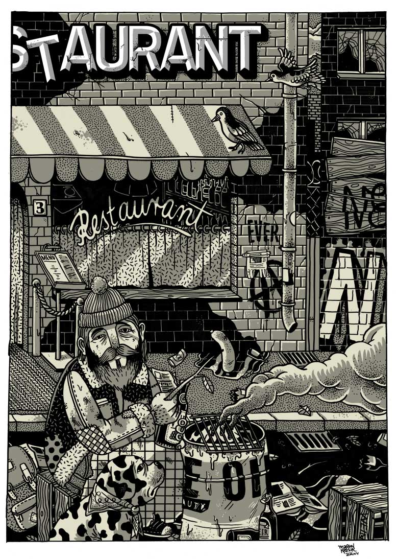 Martin Krusche - Illustration- »Restaurant«