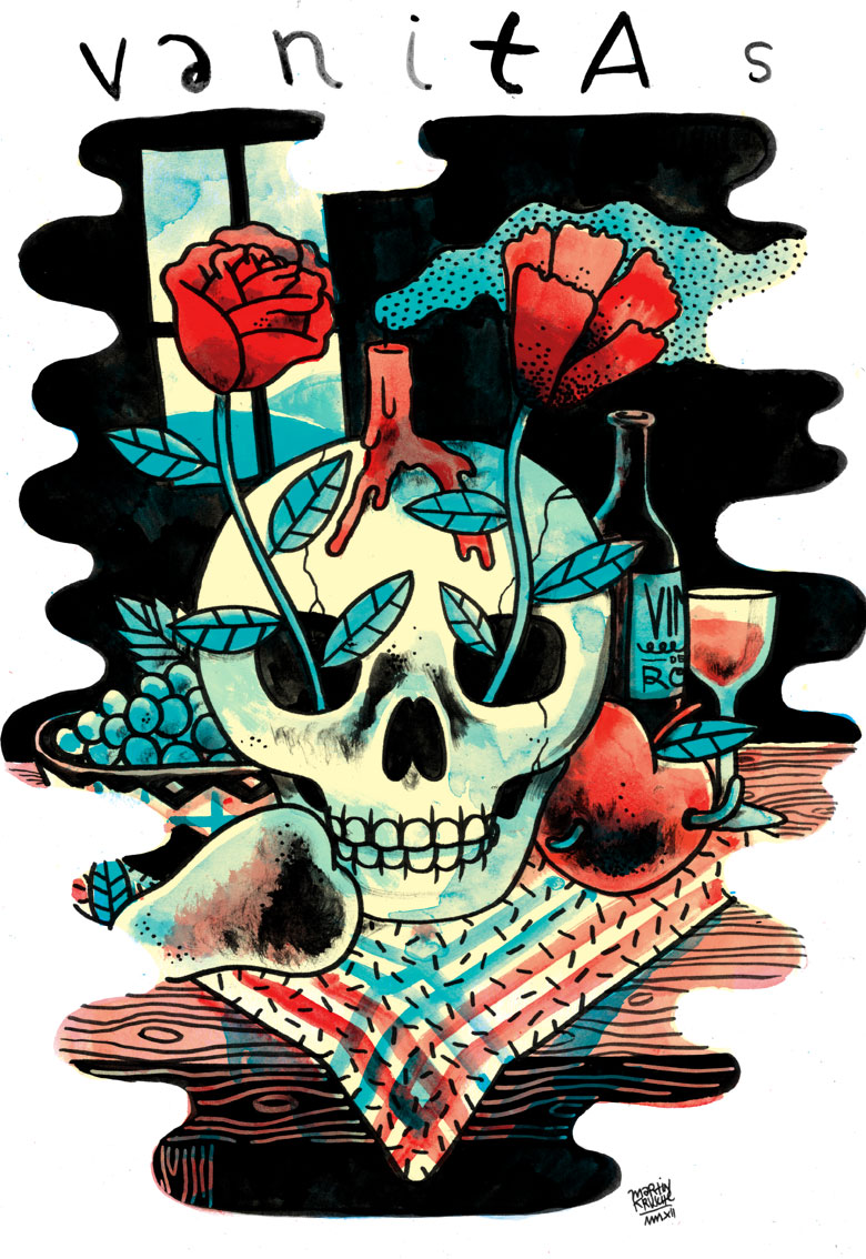 Martin Krusche - Illustration - »Vanitas Stilleben«